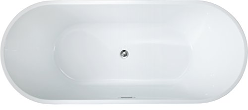 67' Freestanding Luxury Bathtub White Acrylic