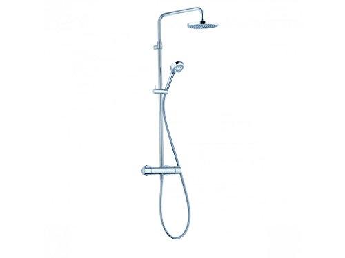 KLUDI Logo 680920500 Thermostat Dual-Shower-System, Chrom/weiß, 5 Stück