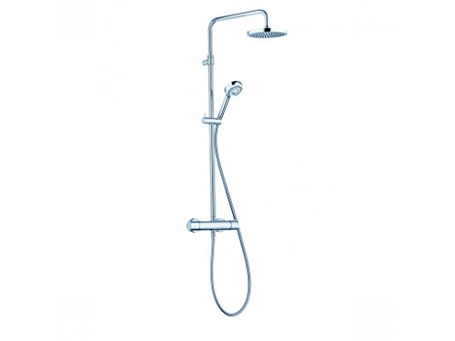 KLUDI Logo 680920500 Thermostat Dual-Shower-System, Chrom/weiß, 5 Stück