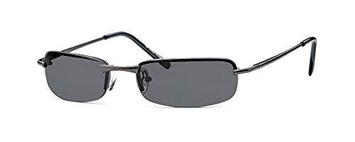 sportliche elegante Sonnenbrille Trento rahmenlos mit Flexbügeln + Brillenbeutel - Agent Smith Sonnenbrille (smoke)