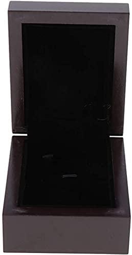 ZRDSZWZ Caja organizadora de joyas de madera de estilo vintage fiable (color marrón oscuro)