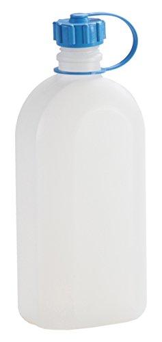 hünersdorff Kunststoffflasche / Trinkflasche / Vorratsflasche mit dichtem Schraubdeckel, Chemie- und Lebensmittelbeständig, 1,5 Liter, Made in Germany