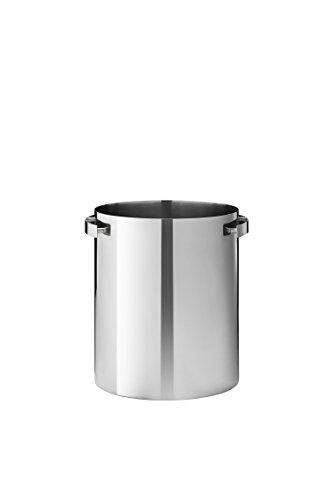 Stelton Sektkühler, Emaille, Stahl, Silber, 21 x 22 x 19 cm