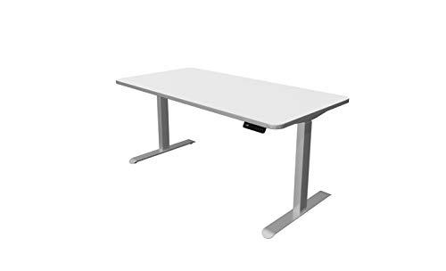 Kerkmann Move 3 Premium - Escritorio eléctrico de altura regulable, 160 x 80 cm, color blanco, adecuado para el hogar y la oficina