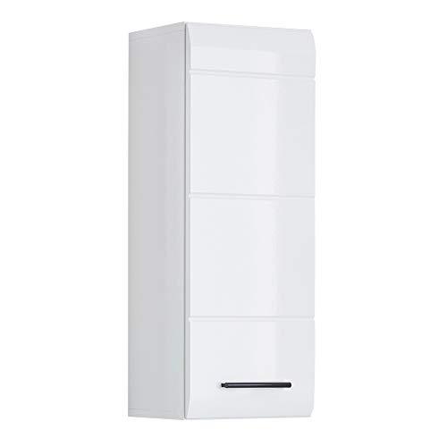 trendteam smart living Badezimmer Hängeschrank Wandschrank Skin, 30 x 77 x 24 cm in Weiß Hochglanz mit viel Stauraum
