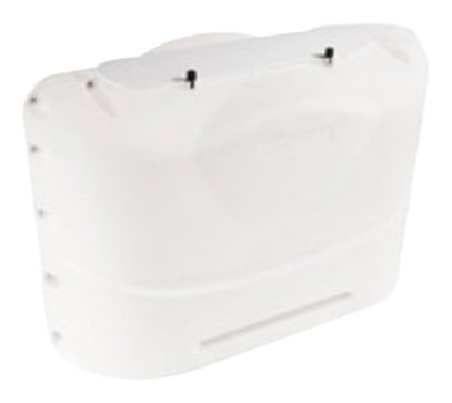 Camco Heavy-Duty 20lb Propane Tank Cover Protector- Protect Popane Tank from Flying Debris, Provides Easier Access to Gas Valves (Polar White) (40523)