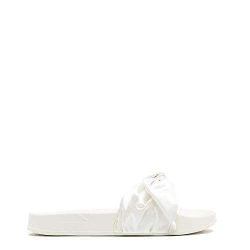 Damenschuhe mit Schleife, Sneaker von Rihanna Fenty x Puma, Weiß - Marshmallow - Größe: 40.5 EU