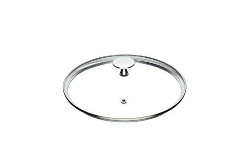 Kitchencraft Masterclass Vetro temperato Coperchio casseruola con Manico in Acciaio Inox, 20cm (20,3cm), Trasparente