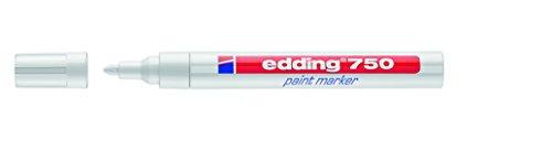edding 750 Lackmarker - 10x weiß - Für stark deckende, permanente Markierungen auf Metall, Glas, Holz, Leder, Karton - Hitzebeständig bis 400 Grad Celsius