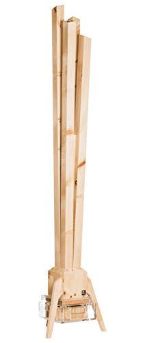 ZirbenLüfter ® CLASSIC für ca. 60 m2 | Luftbefeuchter | Luftreiniger aus Zirbenholz |natürliche Reinigung der Luft durch Luftverwirbelungsprinzip in den 4 Säulen | Wasservolumen 1,5 Liter | 12 Volt
