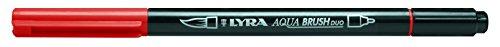 LYRA Aqua Brush Duo Rotulador acuarelable, Doble Punta, carmín Oscuro, Karmin Dunkel