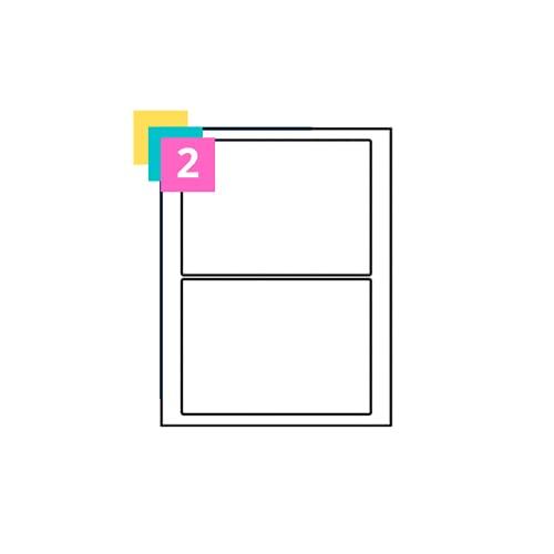 2 Per Sheet, 100 Sheets, A4 White Sticker Paper Labels, Half-Size Self...