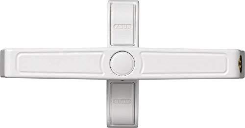 ABUS Fenster-Zusatzsicherung 2420 AL0125 - Sicherheitsschloss mit Schwenkriegel für Doppelflügelfenster, gleichschließend - Sicherheitslevel 6 - 89642 - weiß
