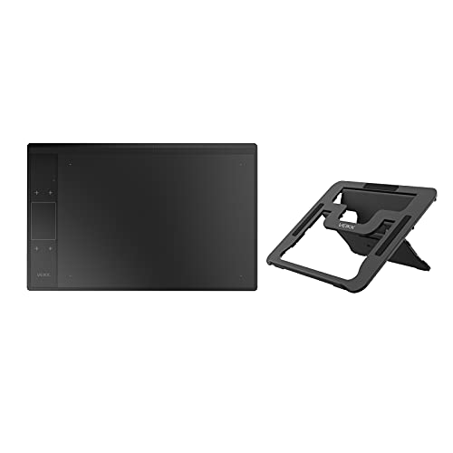 VEIKK A30 V2 Drawing Tablet 10x6 Inch Graphics Tablet with Battery-Free Pen and 8192 Professional Levels Pressure with Holder Stand