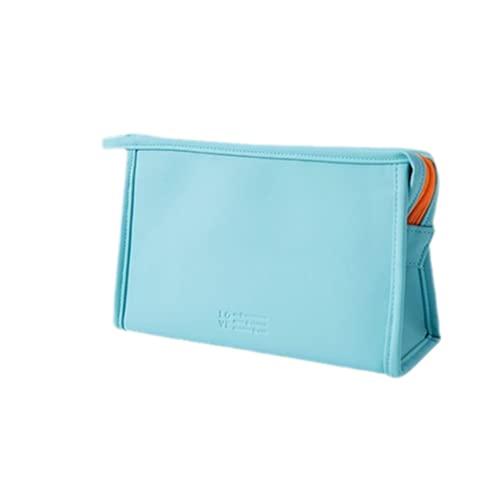 Bolsa De Cosméticos Para Mujer Con Cremallera Impermeable, Organizador De Maquillaje Para Lavado De Viaje, Bolsa De Maquillaje, Azul Claro, 1 Pieza