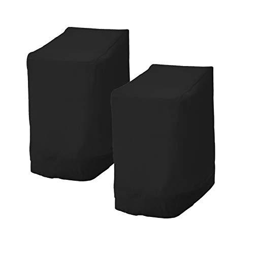 Beenle-Icey 2pcs Fundas para Sillas Protectora Impermeable Sillas contra la Intemperie Resistente al Agua Protección UV Cubierta Protectora para Sillas de Exterior Jardín y Balcón (Negro)