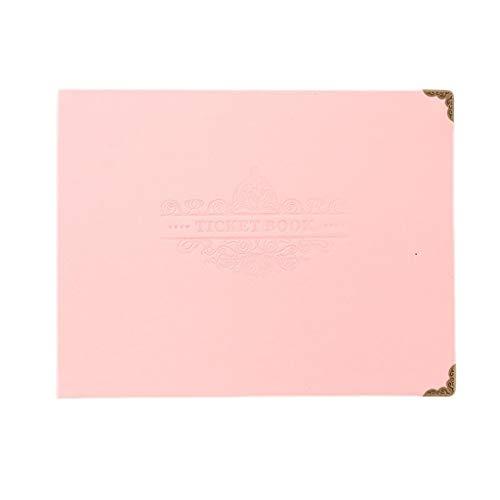 Billets Billets air Billets de cinéma Billets de cinéma Stockage Polaroid Albums Billets Racines Clips Clips Créations Cadeaux (Color : Pink)
