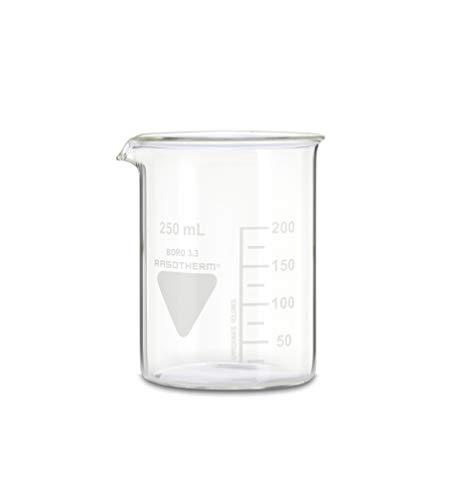 RASOTHERM Becherglas niedrige Form mit Ausguss, (Boro 3.3), 250 ml