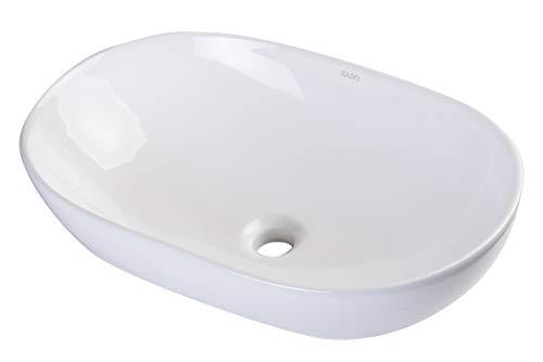 EAGO BA352 Waschbecken, oval, Keramik, oberhalb montiert, 58,4 cm