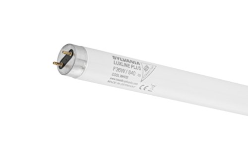 Paquete de 2 tubos fluorescentes Felio Sylvania de 970 mm, 36 W, T8 G13, casquillo de trifósforo blanco frío 4000 K 840 lámpara – 0001504