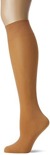 FALKE Damen Kniestrümpfe Seidenglatt 40 Denier - Semi-Blickdicht, Leicht Glänzend, 1 Paar, Beige (Powder 4169), Größe: 35-38