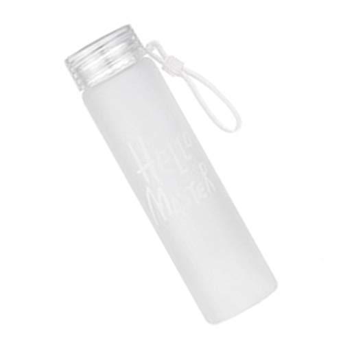 Gankmachine Bunte 400ml Gradient Mattglas-Wasserflasche Frische Studenten Tote Wasser Cup Letters Pattern
