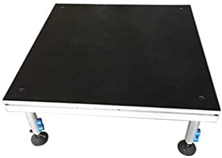 Hisonic PS02 4' X 4' Portable Stage Platform Modular System with Height Adjustable Riser (24