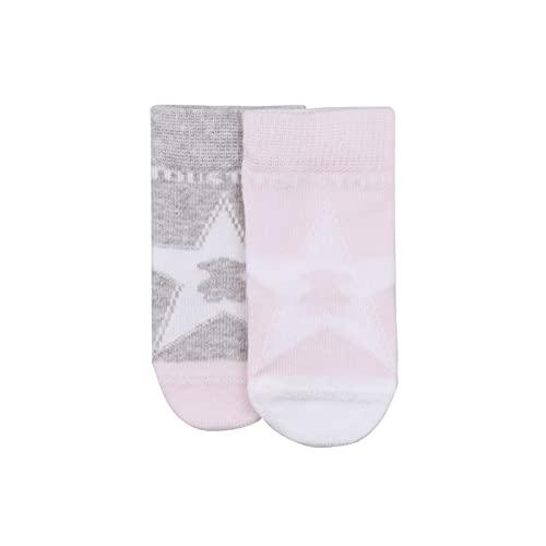 TOUS BABY - Set 2 calcetines para tu Bebé. Modelos y colores variados. (Tallas 0-6 Meses y 6-12 Meses), (SSocks-1402 Rosa, 6-12 meses)