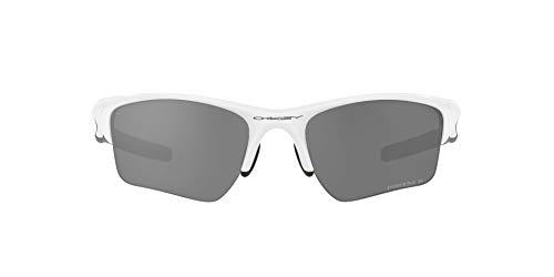OO9154 Half Jacket 2.0 XL Sunglasses, Polished White/Prizm Black Polarized, 62mm