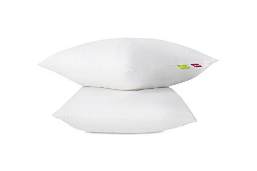Abeil Lot de 2 Oreillers Bio Attitude Coton Blanc 60 x 60 cm