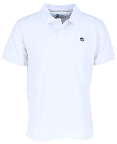 Timberland Herren Ss Millers River Polo CA1A4L100 Poloshirt, weiß, XL