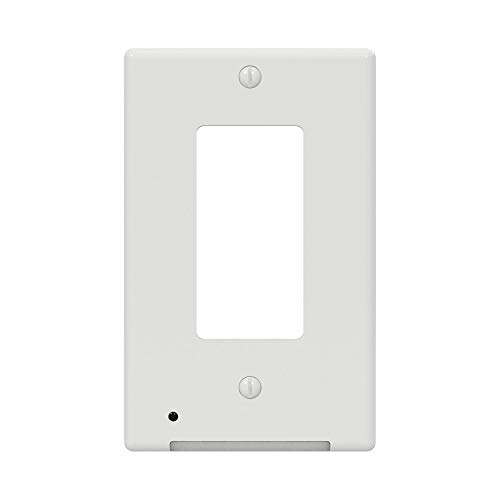 Westek LCR-CDDO-W LumiCover Classic Décor Nightlight Wallplate, Single Gang, White