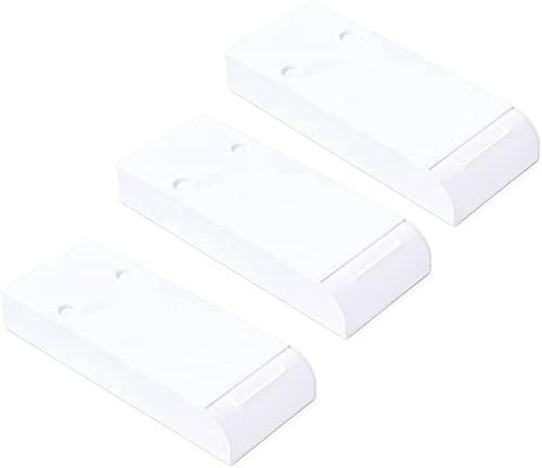 LRJKFS Cajón de Escritorio sin Perforaciones, Caja de Almacenamiento Oculta Tipo Pasta (White,3pcs)