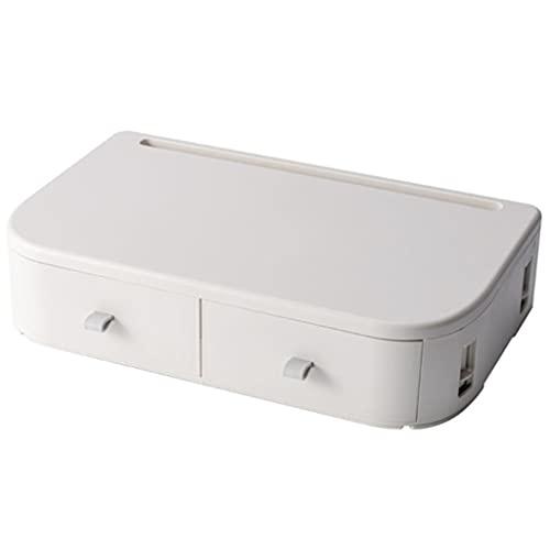 SHYPT Elevador de Soporte para Monitor de computadora de Escritorio de artículos para el hogar con Espacio de Ahorro, Estante ergonómico de 14 Pulgadas con 6 ángulos Ajustables (Color : Apricot)