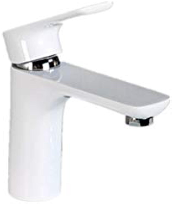 Waschtischarmaturen Küchenarmatur Spüle Gemüsetpfe Badezimmer Einfaches Einzelnes Loch. Wei