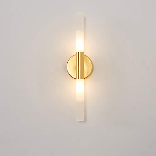 SANTITY Lámpara de Pared 5W LED Apliques de Pared Moderna para Salón Dormitorio Escalera Pasillo Luz de Pared Interior G9 Iluminación de Decoración en Acrílico, Dorado L40CM,Warm White Light