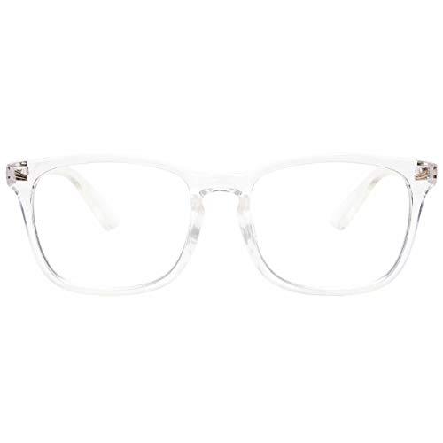 Livho Blue Light Blocking Glasses, Computer Reading/Gaming/TV/Phones Glasses for Women Men,Anti Eyestrain & UV Glare LI8081 (Clear)