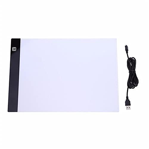 JSJJAOL Tablero de Dibujo A3 A4 / A5 Tamaño Tres Nivel Dimmable LED Light Pad, Protección para los Ojos de la Tableta Más fácil para la Pintura de Diamante Herramientas de Bordado Accesorios