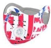 ROXX (USA-Red-White-Blue) Outdoor Cycling Neoprene Camo Mask with Changeable Filter, Unisex Anti Pollen Allergens PM2.5 Filters Dust Includes Filter and Bonus