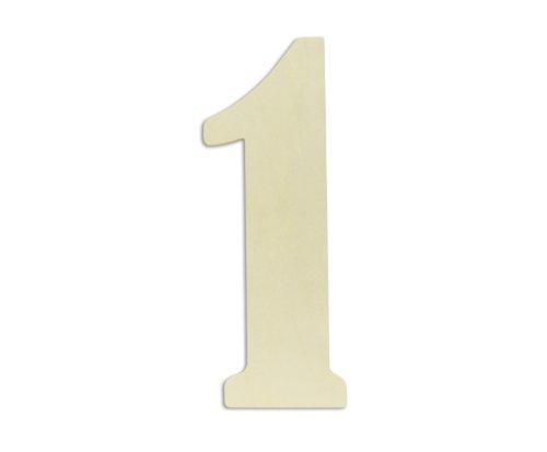 UNFINISHEDWOODCO Oversized Unfinished Wood Letters, 18-Inch, '1'