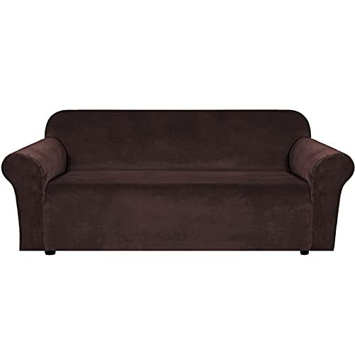 WYYUE Sofaüberwurf 1/2/3/4 Sitzer | Super Stretch Sofabezug | Samt Sofahusse | Washable Couch Cover Protector für Kids, Pets