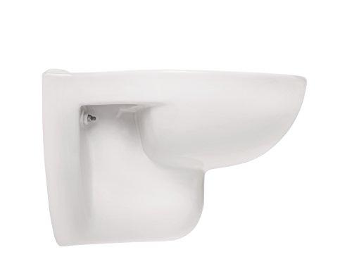 Wand-WC | Spülrandlos | Tiefspüler | Abgang waagerecht | Weiß | Toilette | Spülrandloses WC | Klo | Hänge-WC | Randlos - 4