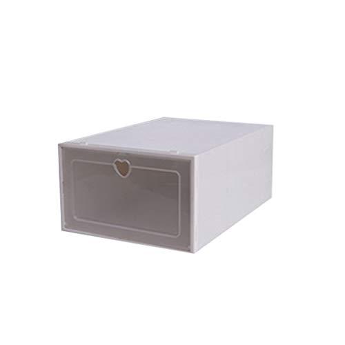 UKtrade Montar zapatos de plástico Caja de almacenamiento a prueba de polvo Organizador de zapatos Clasificación de zapatos Colección de zapatos limpio y limpio 1PC (blanco)
