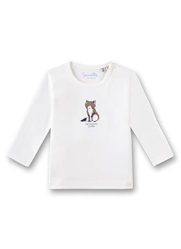 Sanetta Baby-Jungen T-Shirt, Beige (Ivory 1829), 56 (Herstellergröße: 056)