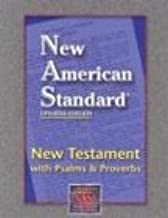 NAS New Testament with Psalms and Proverbs (Black, Bonded Leather)