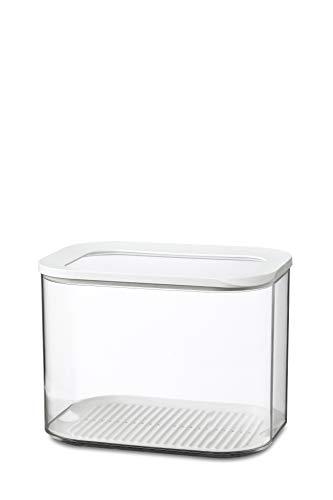 Mepal Vorratsdose Modula XL – 4500 ml Inhalt – Frischhaltedose zur Aufbewahrung von Lebensmitteln – spülmaschinenfest, SAN/PE, Weiß, 22.4 x 16 x 16.7 cm