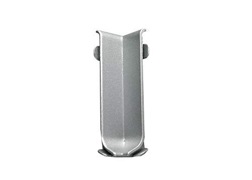 Höhe: 60 mm FUCHS Sockelleiste Innenecke Aluminium Eloxiert silber matt