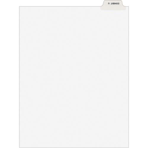 Avery Divider; Exhibit U; Bottom Tab; 8-1/2'x11'; 25/PK; White