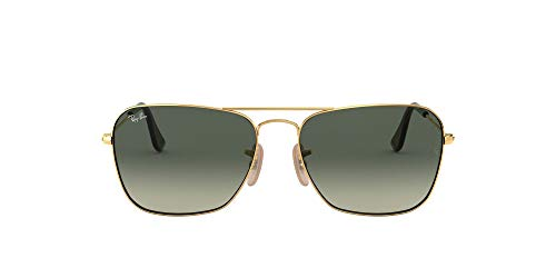 Ray-Ban Herren Rb 3136 Sonnenbrille, Gold (Gold/Light Grey Gradient Dark Grey), One size (55)