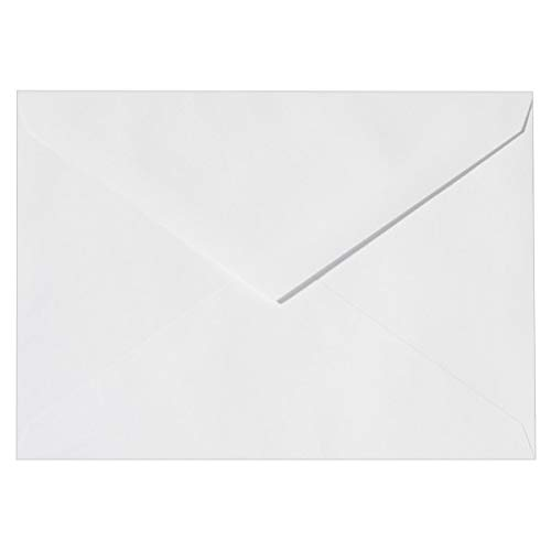 Buste | Buste da lettera | Buste per biglietti d'auguri, inviti, cartoline natalize | Carta di alta qualità | Con patta a punta | DIN C6, 11,4 x 16,2 cm | 100 pezzi